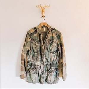 Free People Not Your Brother's Jacket Camo Small